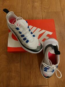NIKE Air Max Axis Trainers UK size 5.5 WHITE / SILVER / BLUE / PINK