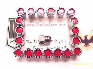 1967-81 TRANS AM FIREBIRD / PONTIAC RALLY II - 20 PC LUG NUT SET w/ RED CENTER