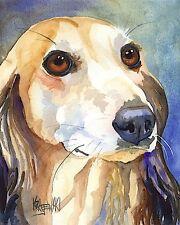 Saluki Dog 11x14 signed art PRINT RJK painting