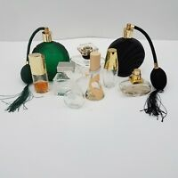 Lot of 9 Various EMPTY Miniature Perfume Bottles