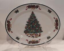 "JOHNSON BROS. VICTORIAN CHRISTMAS OVAL SERVING PLATTER (S) 11 3/4"" MADE ENGLAND"