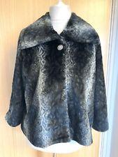 Per Una Speziale Faux Fur Coat Jacket 16 18 Winter Evening Glam Snakeskin L