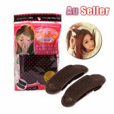 Black Updo Hair Clip Bump It up Princess Sponge Padding Bun Volume Tool Holder