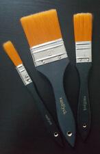 3 tlg. Profi Pinsel Set Flachpinsel Malerei Spalterset