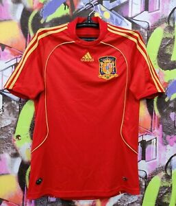 Spain National Football Team Shirt Soccer Jersey Training Top Adidas Mens Size S
