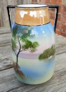 VINTAGE  Noritake China lustre Vase with stunning design