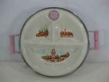 Vintage Child Baby Nursery Warming Bowl Plate Chrome Porcelain by Garrison