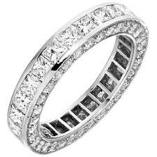5.50 Ct. Princess Diamond Wedding Band Ring Eternity