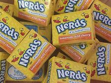 Wonka Nerds Mini Boxes Lemonade Wild Cherry ALL YELLOW SUPER SAVER 15oz  30pc