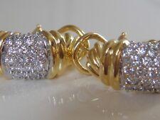 $4550 DAVID YURMAN 18K GOLD METRO DIAMOND EARRINGS
