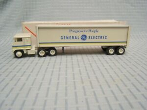 """Winross General Electric """"Progress for People"""" Tractor Trailer 1/64 1978 Rare"""