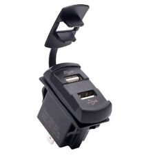 12V Dual USB Car Charger Lighter Power Socket Digital Voltmeter Switch Pane N8S2