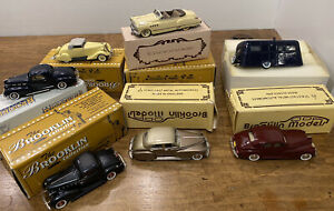 Lot of NEW! BROOKLIN Collection 1:43 SCALE Car Metal Models