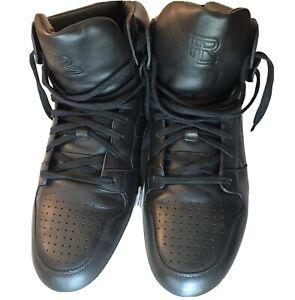 Ralph Lauren Purple Label men's size 11.5D ginacarlo high-top leather sneakers