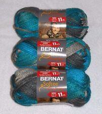 Bernat Softee Chunky Yarn Lot Of 3 Skeins (Deep Waters #29632)