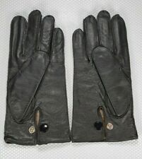 Men's Black Leather Gloves - Lined - Size 10 Made in UK *NEW*