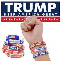 WR 6PCS Trump Election Slogan Bracelets Keep America Great 2020 Wristband Gift