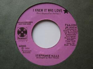 """Soul 70's Soul Modern 70's 7""""-Stephanie Mills-I Knew It Was Love-USParamount s/s"""