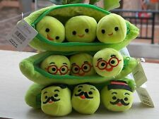 """New 8"""" Disney Store Toy Story Bean Bag Peas in a Pod Plush Toy Set Of 3"""