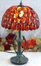 Luxus Bernsteinlampe Tischlampe Edelstein Lampe Bernstein Leuchte Tiffany 40 cm