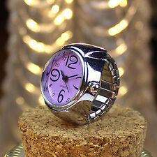 Dial Quartz Analog Creative Steel Cool Elastic Quartz Finger Ring Watch Gift NEW