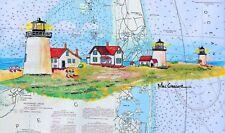 Quabbin Reservoir art print Dana town Central MA Ware fisherman historic gift