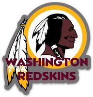 Washington Redskins NFL Logo Type w/ Chief Mascot Die-Cut MAGNET