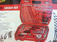 """121 Piece 1/4"""",3/8"""",1/2"""" Drive Professional Socket set in handy cary case"""