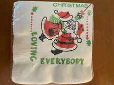 Vintage Christmas Paper Napkins Christmas Is Loving Everybody Paper Art Co New