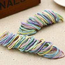 100pcs Elastic Rope Women Hair Ties Ponytail Holder Fashion Head Band Hairbands