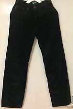 Women's Paul Smith Black Cotton Pile Straight Cut Jeans Trousers Size W25