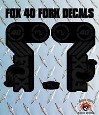 FOX 40 Stealth Look FORK Adesivi Decalcomanie Grafiche mountain bike Down Hill MTB