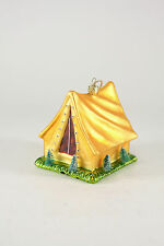 GO-885 Cody Foster~Camping Tent Glass Christmas Ornament Outdoors Camp Forest