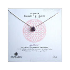 """Dogeared Amethyst Teardrops Necklace Sterling Silver 16""""+ 2"""" Ext. Chain Boxed NW"""