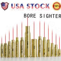 US Red Dot Laser Brass Boresight CAL Cartridge Bore Sighter