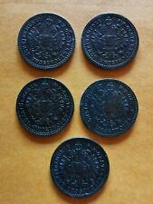 5/10 Kreuzer Österreich 1858,1859, 1864,1881,1885