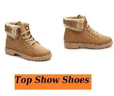 Women's Ankle Cuban Lace Up 100% Leather Boots