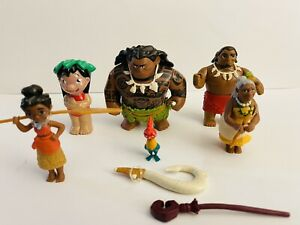DISNEY HASBRO 2016 MOANA POSABLE ACTION TOY FIGURES LOTS OF 6+ 2