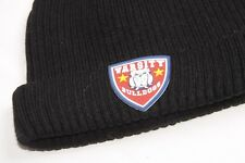 Casual Men Black Everyday Beanie Hat with Varsity Bulldogs Logo (S282)