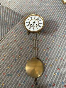 Komplettes altes Uhrwerk für Regulator Wanduhr Pendeluhr Vollplatinenwerk