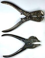 "2 Vintage BERNARD SCHOLLHORN Tools 7"" Nippers & Parallel Cutters No. 102 6-1/2"""