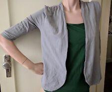 Grey METALICUS Open Cardigan (O/S) Crinkle Fabric