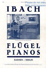 Ibach Piano german ad 1924 Richard Strauss grand upright Klavier Fluegel xc