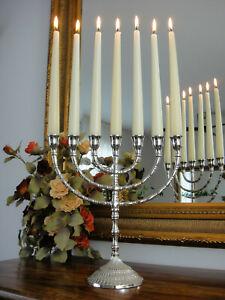 Kerzenleuchter Menora Silber Davidleuchter Chanukkia Kerzenständer Edel Luxus
