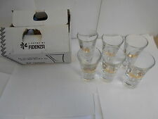 2 Sets of 6 Goldschlager 2 oz Glasses. Very nice. Heavy. 12 glasses total MC15