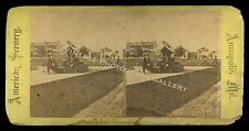 Stereoview Photo Great Mortar Cannon US Naval Academy Annapolis MD Military