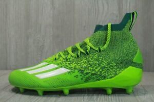 64 Adidas Adizero Primeknit Football Cleats Semi Green White EH3420 Mens Size 13