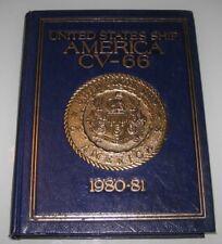 USS America CV-66  1980-1981 NAVY CRUISE BOOK