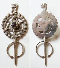 Fibule en argent massif silver 19e siècle Kabyle Algérie Maghreb ethnique
