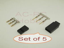 Futaba JR Servo Gold Plated plug Female Male  Set of 5